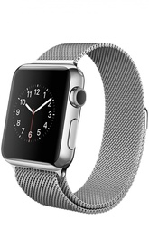 Apple Watch 42mm Silver Stainless Steel Case with Milanese Loop Apple