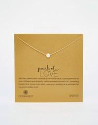 Ожерелье с жемчужиной Dogeared Pearls Of Love - Золотой и жемчужный