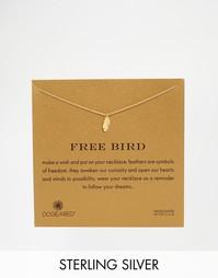 Позолоченное ожерелье с подвеской в виде перышка Dogeared Free