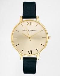 Черные часы с большим циферблатом Olivia Burton - Черный