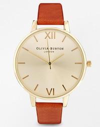 Светло-коричневые часы с большим циферблатом Olivia Burton