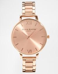 Наручные часы с большим циферблатом цвета розового золота Olivia Burto