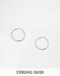 Серебряные серьги-кольца 9 мм ASOS - Серебряный
