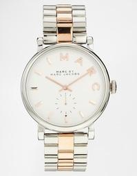 Часы с отделкой под cеребро и розовое золото MBM3312 Marc Jacobs Baker