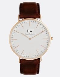 Часы цвета розового золота Daniel Wellington St Andrews - Коричневый