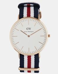 40 мм розово-золотистые часы Daniel Wellington Canterbury