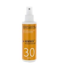 Йогуртoвый солнцезащитный спрей для лица и тела с SPF 30 Korres