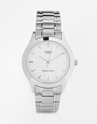 Серебристые часы с браслетом из нержавеющей стали Casio MTP1128A-7A