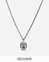 Ожерелье с черепом Simon Carter эксклюзивно для ASOS - Серебряный