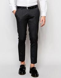 Укороченные супероблегающие брюки в строгом стиле ASOS - Угольный