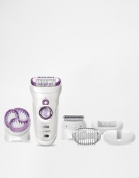 Эпилятор с чистящей щеточкой Braun Silk-Epil 9 Wet & Dry Skin-Spa