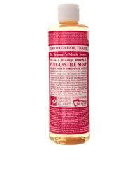 Жидкое органическое кастильское мыло с ароматом розы Dr. Bronner 472