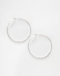 Tонкие серьги-кольца 50 мм ASOS - Серебряный