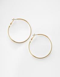 Tонкие серьги-кольца 50 мм ASOS - Золотой