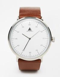 Часы в минималистском стиле с коричневым ремешком ASOS - Коричневый