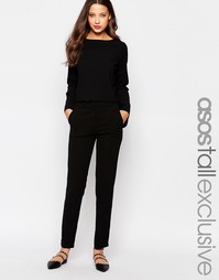 Приталенные брюки слим ASOS TALL Co-ord - Черный