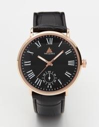 Часы с римскими цифрами ASOS - Черный