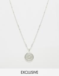 Ожерелье с серебристой подвеской‑логотипом Chained & Able - Серебряный