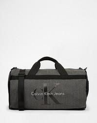 Парусиновая сумка Calvin Klein Jeans - Светло-серый
