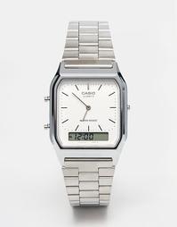 Электронные наручные часы Casio AQ-230A-7DMQ - Серебряный