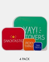 4 коробки для завтрака Happy Jackson Snacktastic - Мульти