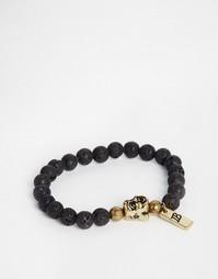 Браслет из бусин Icon Brand Buddha - Черный