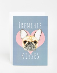 Открытка Jolly Awesome Frenchie Kisses - Мульти