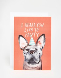 Открытка Jolly Awesome Pawty Dog - Мульти