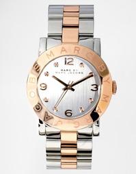 Часы с отделкой под серебро и розовое золото Marc Jacobs Amy MBM3194