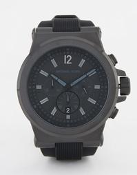 Силиконовые oversize-часы с хронографом Michael Kors Dylan - Черный