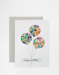 Поздравительная открытка на день рождения с шариками Meri Meri Confett