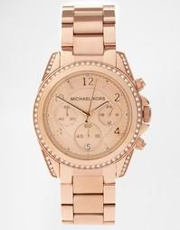 Розовато-золотые часы с хронографом Michael Kors Blair MK5263