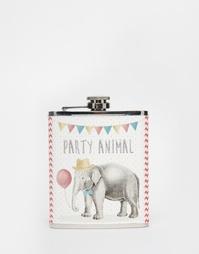Плоская фляжка Sass & Belle Party Elephant - Мульти