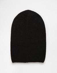 Черная шапка-бини ASOS - Черный