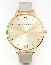 Массивные золотисто-серые часы Olivia Burton - Серый