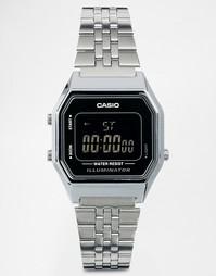 Цифровые часы мини с черным циферблатом Casio LA680WEA - Черный