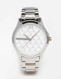 Серебристые часы Armani Exchange Lady Hampton - Серебряный