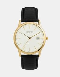 Часы с кожаным ремешком Sekonda 3697 - Черный