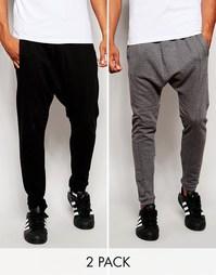 Комплект из 2 пар спортивных штанов с заниженным шаговым швом ASOS, СК