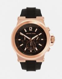 Oversize-часы с хронографом и силиконовым ремешком Michael Kors MK8184
