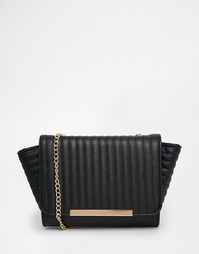 Стеганая сумка на плечо с ремешком‑цепочкой Yoki Fashion - Черный