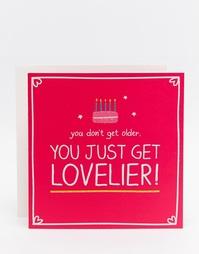 Открытка на День рождения Happy Jackson Lovelier - Мульти