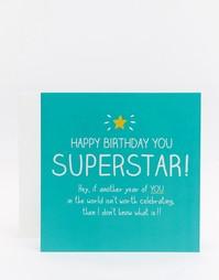 Открытка на День рождения Happy Jackson Superstar - Мульти
