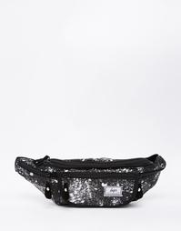 Сумка-кошелек на пояс в крапинку Hype - Черный