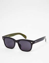 Черные солнцезащитные очки в квадратной оправе AJ Morgan Milo - Черный