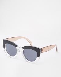 Солнцезащитные очки кошачий глаз с массивной оправой и монохромной пер Asos