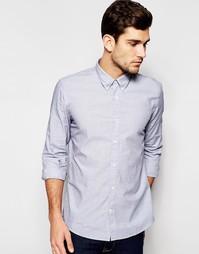 Рубашка Junk De Luxe Fil-a-fil - Синий