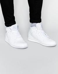 кроссовки средней высоты Nike Air Jordan 1 554724-112 - Белый