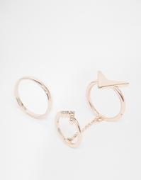 Кольцо на кончик пальца со стрелой ASOS - Розовое золото