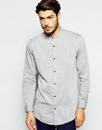 Удлиненная рубашка классического кроя с горловиной на пуговице ADPT